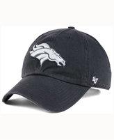 '47 Denver Broncos Charcoal White Clean Up Cap