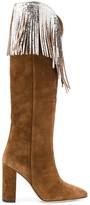 Paris Texas knee-high fringe Western boots