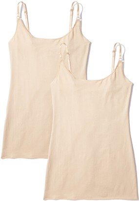 Iris & Lilly Women's Strappy Vest Pack of 2