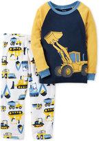 Carter's Baby Boys' 2-Pc. Construction Vehicles Pajama Set