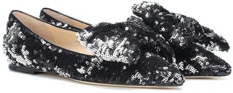 Jimmy Choo Gilly sequined ballet flats
