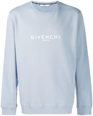 Givenchy logo crew neck sweatshirt