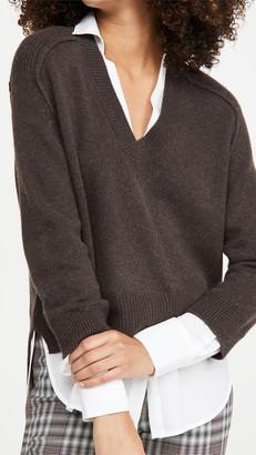 Brochu Walker Alum V Neck Layered Looker Sweater
