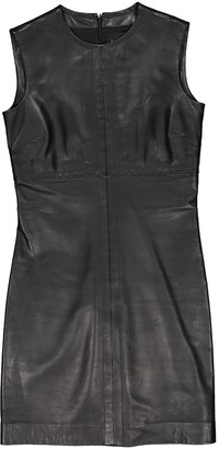 Barneys New York Black Leather Dress for Women