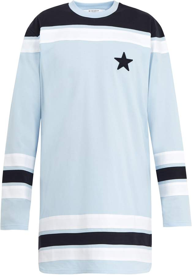 Givenchy Star-appliqué cotton sweater