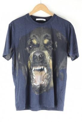 Givenchy Blue Cotton T-shirts