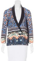 Clover Canyon Graphic Print Double-Breasted Blazer