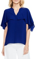 Vince Camuto Women's Capelet Overlay Blouse