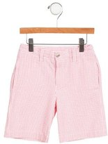 Oscar de la Renta Girls' Terry Cloth Striped Shorts