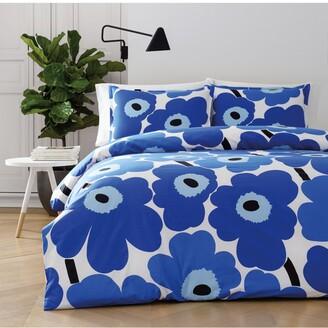 Marimekko Unikko Cotton 3-Pc. Full/Queen Duvet Cover Set Bedding