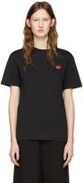 McQ by Alexander McQueen Black Swallow Patch T-shirt