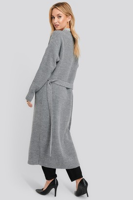 NA-KD Belted Maxi Cardigan