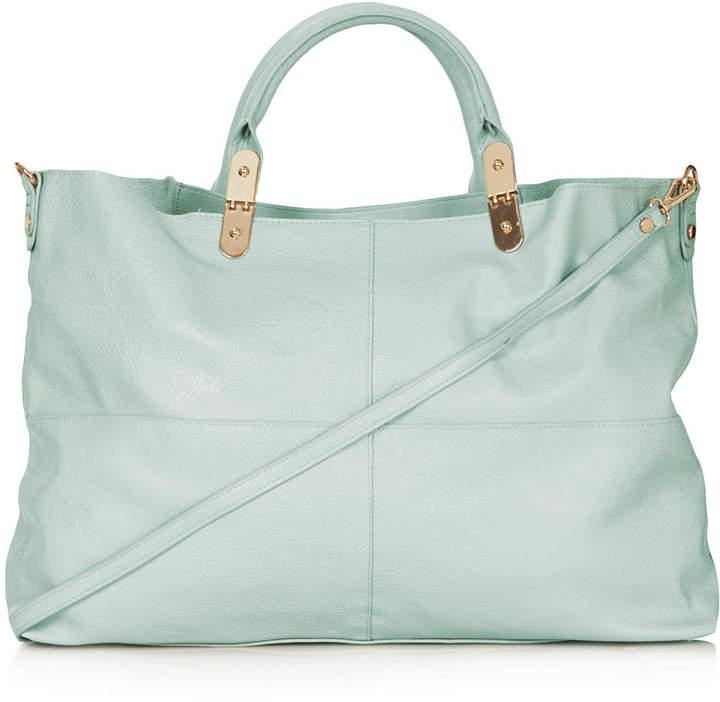 Topshop Suedette backed tote bag