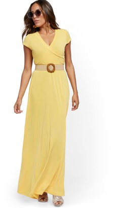 New York & Co. Belted Wrap Maxi Dress