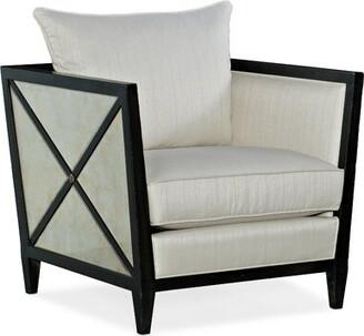 Hooker Furniture Sanctuary 2 Joli Lounge Chair Fabric: Cream, Leg Color: Black