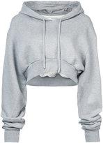 Off-White simple crop hoodie