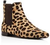 Tory Burch Orsay Leopard Print Calf Hair Chelsea Booties