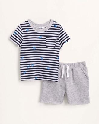Splendid Baby Boy Turtle Stripe Top and Short Set