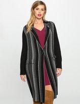 ELOQUII Plus Size Long Jacquard Sweater Coat