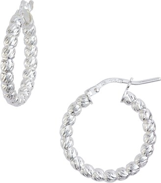 Argentovivo Beaded Hoop Earrings