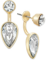 ABS by Allen Schwartz Gold-Tone Crystal Earring Jacket Earrings