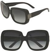 Check Detail Oversized Square Sunglasses