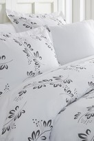 IENJOY HOME Home Spun Premium Ultra Soft 3-Piece Simple Vine Print Duvet Cover King Set - Gray