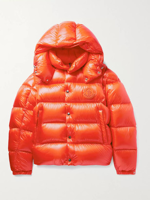 Moncler Tarnos Slim-Fit Logo-Appliqued Quilted Nylon-Shell Hooded Down Jacket