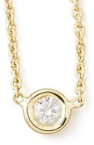 Roberto Coin 18k Yellow Gold Single Diamond Necklace