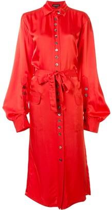 Ann Demeulemeester Belted Shirt Dress