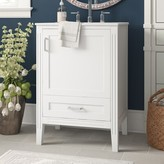 "Three Posts Lanesville 24"" Single Bathroom Vanity Set Base Finish: White"