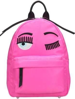 Chiara Ferragni Backpack In Rose-pink Tech/synthetic
