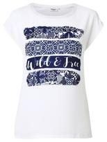 Jeanswest Tiana Placement Print Tee-White-M