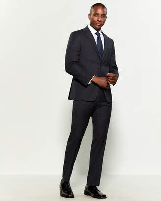 Tommy Hilfiger Two-Piece Grey & Blue Microcheck Suit
