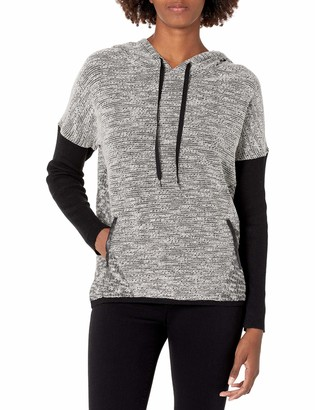 Colourworks Colour Works Women's Long Sleeve Hoodie Pullover with Textured Fabric