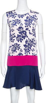 Mary Katrantzou Colorblock Rosario Print Sleeveless Antona Shift Dress M