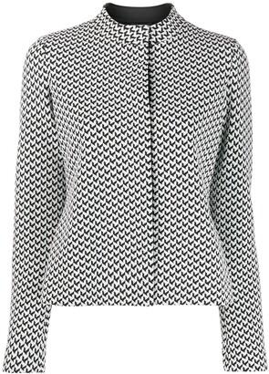 Emporio Armani geometric pattern top