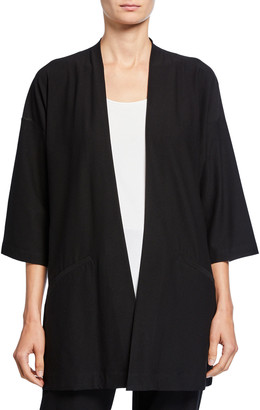 Eileen Fisher Petite Washed Crepe Kimono Jacket