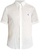 Polo Ralph Lauren Button-down collar short-sleeved linen shirt