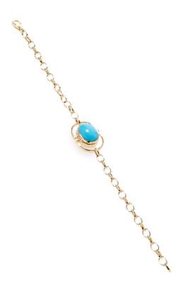 Monica Rich Kosann 18K Yellow Gold Locket Bracelet