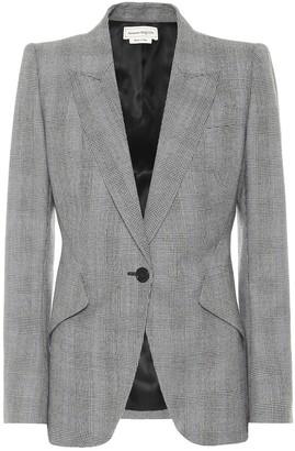 Alexander McQueen Checked wool and cashmere blazer