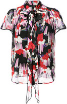 Marc Jacobs tie neck blouse - women - Silk - 0