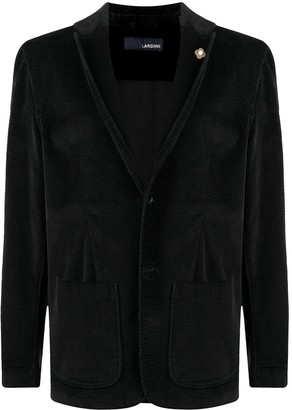 Lardini Corduroy Single-Breasted Blazer