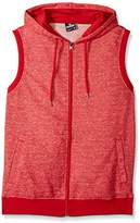 Southpole Men's Hooded Full Zip In Basic Hoodie Sleeveless Vest