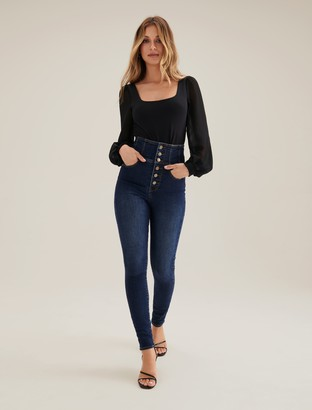 Forever New Sophie High-Rise Sculpting Jeans - Panama Blue - 4