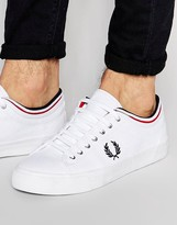 Fred Perry Kendrick Tipped Cuff Canvas Sneakers
