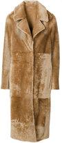 Drome mid-length coat - women - Lamb Skin/Leather/Viscose/PBT Elite - S