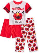 Sesame Street 3-Pc. Awesome Looks Like Elmo Pajama Set, Toddler Boys (2T-5T)