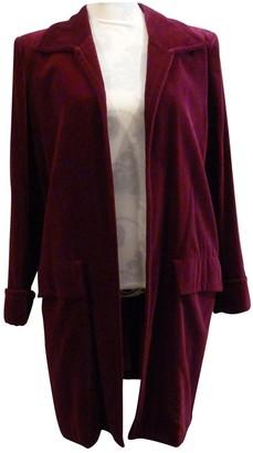 Saint Laurent Burgundy Velvet Coat for Women Vintage
