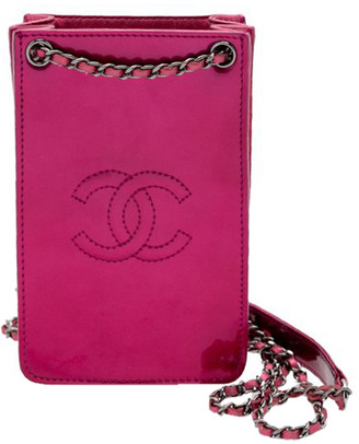 Chanel Pink Patent Leather Crossbody Bag